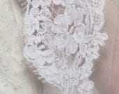 French Alencon Wide Lace Swatch Sample
