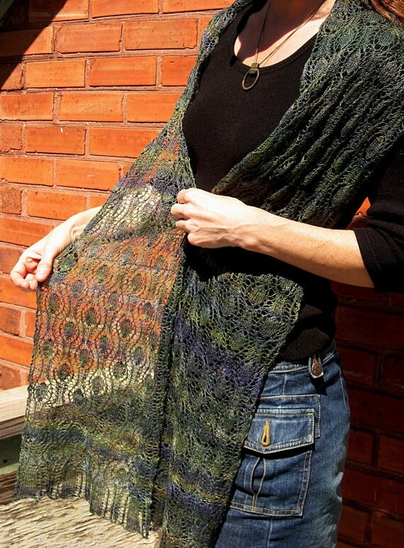 Knitted Lace Scarf Pattern - Link