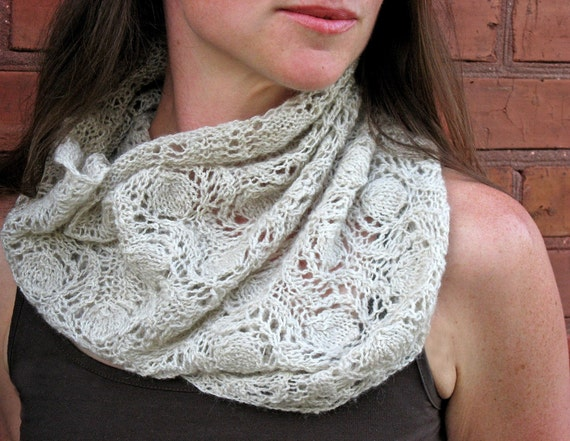 Knitted Lace Cowl Pattern - Link