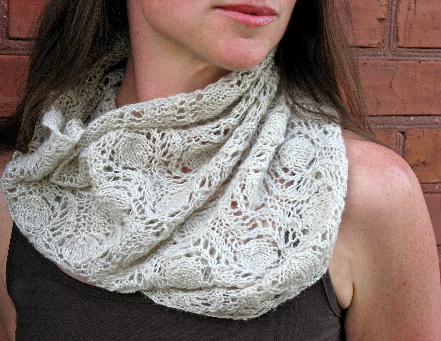 Knitted lace cowl pattern link zoom bankloansurffo Choice Image