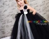 Black Silver Gray White glitter tutu dress wedding flower girl nb-4t