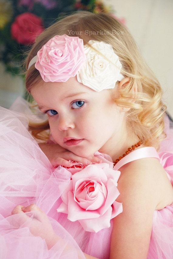 Everyday Princess headband  babies toddler girls couture