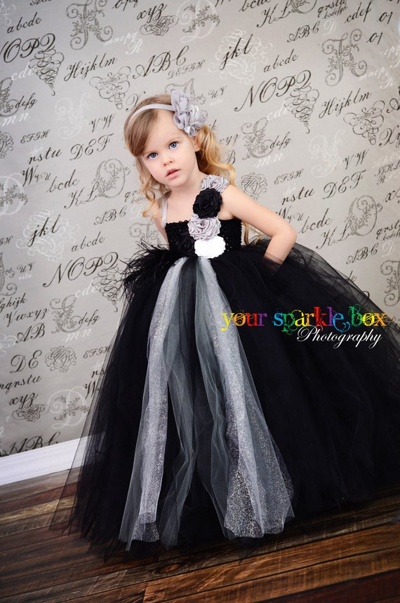 Items Similar To Black Silver Gray White Glitter Tutu