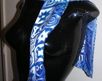 blue devore scarf