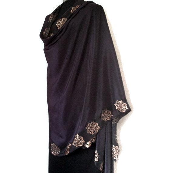 Purple Silk Belly Dance Veil