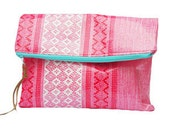 Sophia Fold Over Clutch  - Mexican Oil Cloth