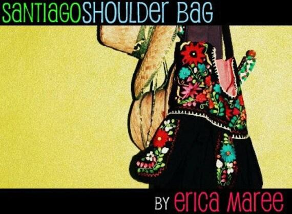 Mexican Embroidered Purse -Santiago Bag