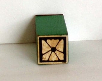 1970s Groovy 1970s Graphic Flower Rubber Stamp