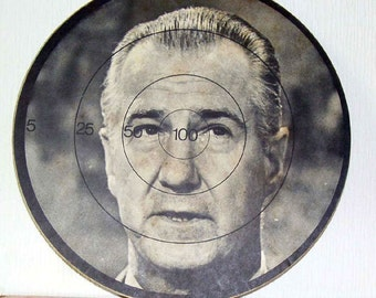 Rare Spiro Agnew Richard Nixon's Vice President  Dartboard 15 percent off from 1970s in original package