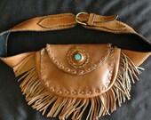 Handmade Leather Bag/belt  -Funky Waist Belt 3-
