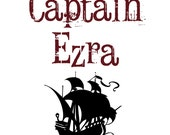 "custom name pirate baby/toddler shirt or bodysuit ""captain"" in sizes NB to youth - kith"