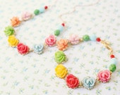 NEW-Hopscotch  Flower Necklace and Bracelet SET