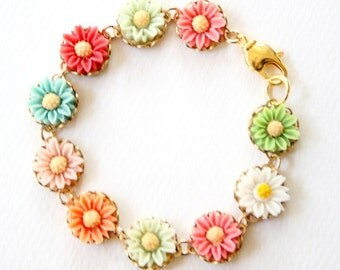 Girls Daisy Bracelet
