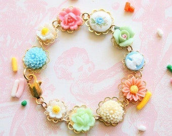 Children Pink Rose Bracelet