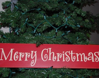 MERRY CHRISTMAS- Wood Sign