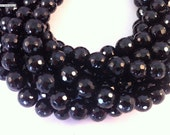8mm facted black onyx 2mm hole