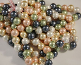 2.5mm 8inches long large hole shell pearl