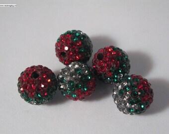 2mm hole 10mm round multi color Czech rhinestones