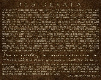 DESIDERATA - Contemporary Canvas Print 16x20 - Motivational - Chocolate Brown