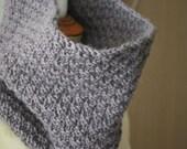 Neck warmer/snood/collar - dark lavender wool neckwarmer