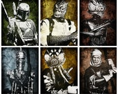 Star Wars Bounty Hunters Pop Art Print Set 8 x 10