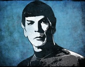 Spock from Star Trek Pop Art Print 5 x 7