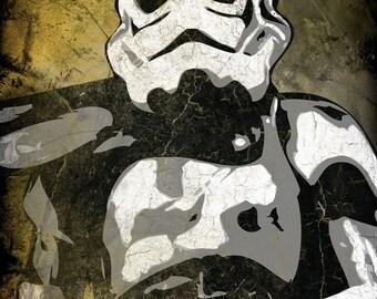 Star Wars Sand Trooper Pop Art Print 8 x 10