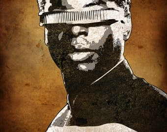 Geordi La Forge from Star Trek Next Generation 5 x 7 Pop Art Print