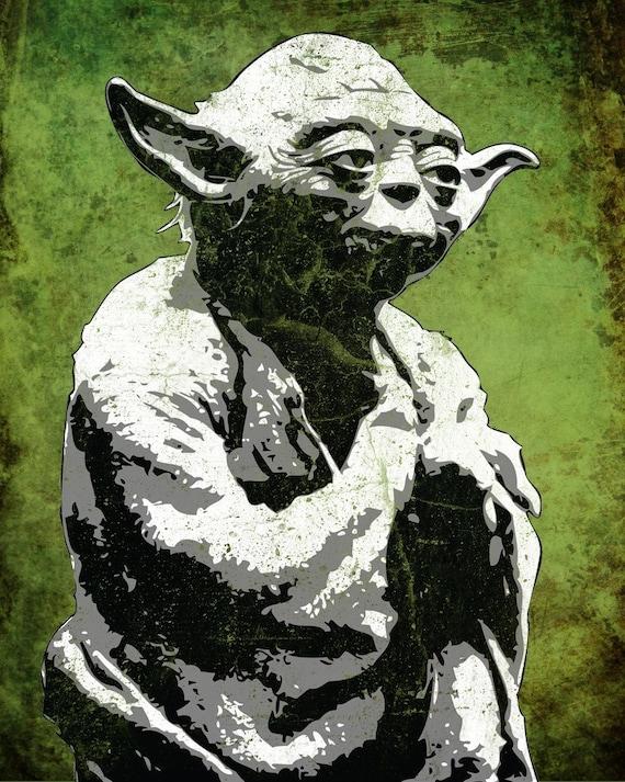 Star Wars Yoda from the Star Wars Saga Pop Art Print 8 x 10
