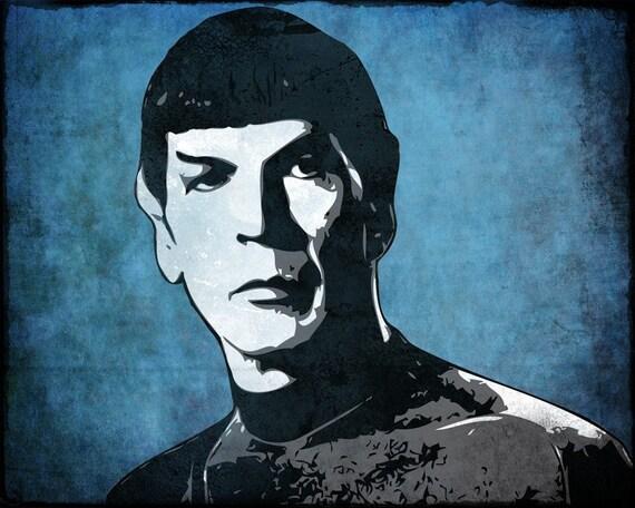 Spock from Star Trek Pop Art Print 8 x 10