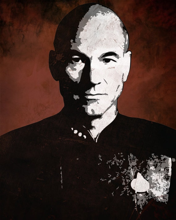 Jean Luc Picard from Star Trek the Next Generation 8 x 10 Pop Art Print