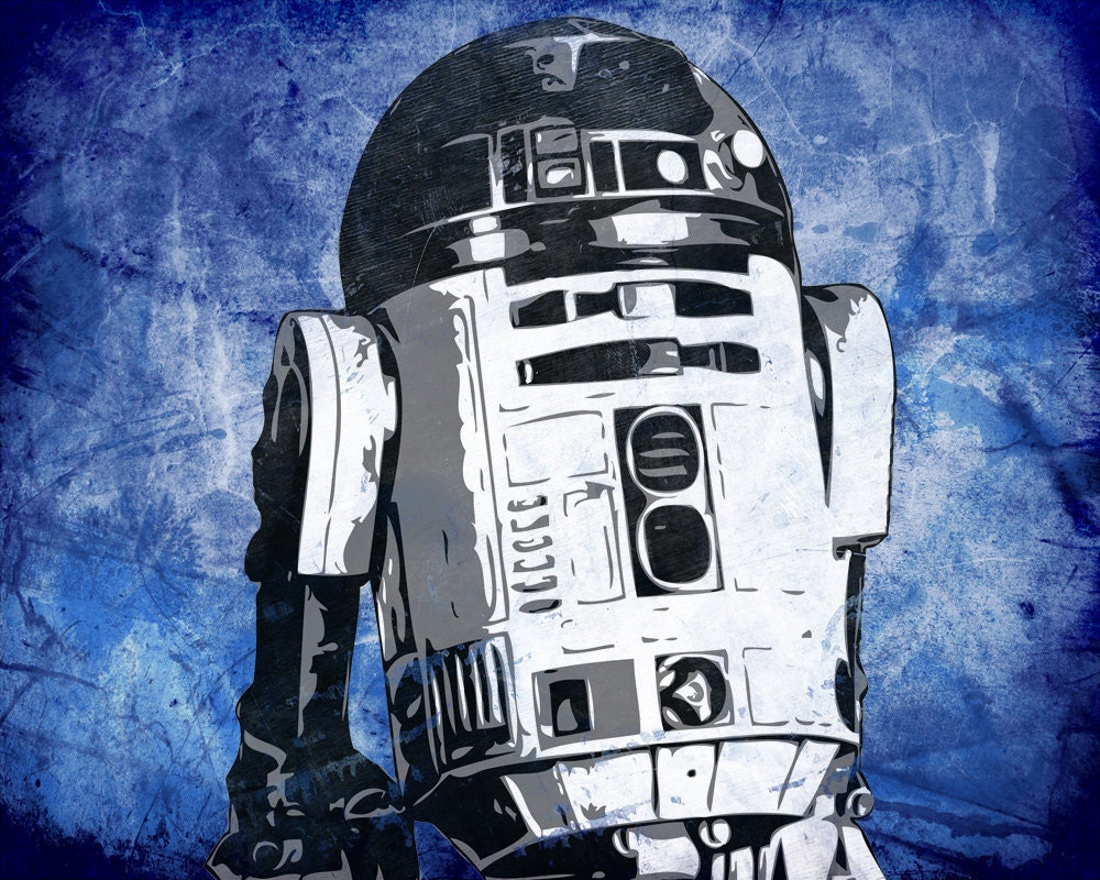 Star Wars R2d2 From The Star Wars Saga Pop Art By Cutitoutart