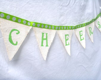 Cheers Holiday Bunting Christmas or New Year Party Pennants Decoration