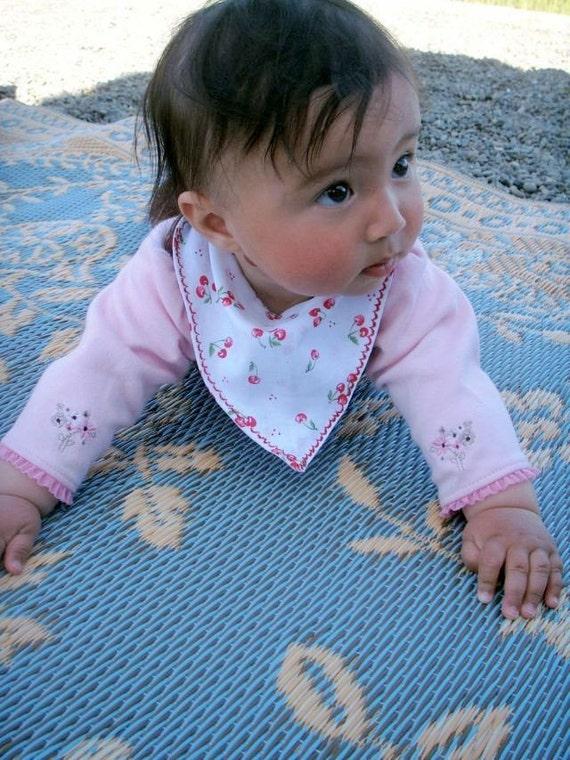Drool Bandanna Handkerchief Style Bib for teething babies Girls
