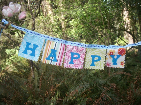 Happy Birthday Banner mini party decoration for a door or photo prop