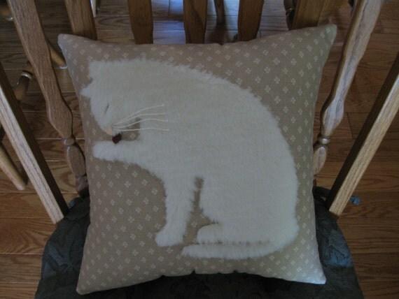 Furry Kitty Cat Pillow