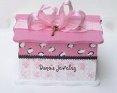 Pretty In Pink - Personalized Jewelry Box (Big)-Reserved for mylilluvbug