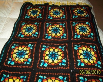 Colorful Stained Glass AFGHAN