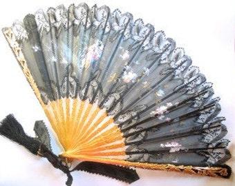 Victorian handpainted fan
