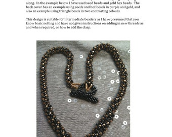 Little and Large Netted Necklace Tutorial