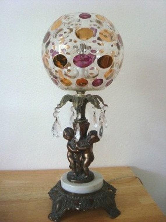 Bohemian Rhapsodyvintage Lamp With Bohemian Crystal Globe