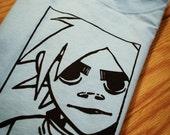 2D Gorillaz Screenprinted T-Shirt