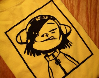 Noodle Gorillaz Screenprinted T-Shirt