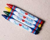 Blissful Personalized Wedding Crayons (Great Favors to keep all the littles busy)