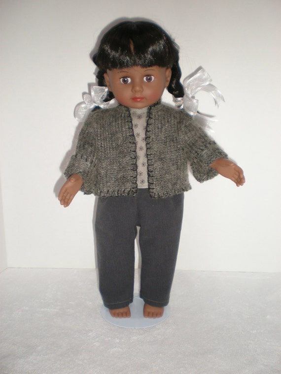 Handmade 18 inch doll clothes fit American Girl Dolls Sweater, Shirt & Pants