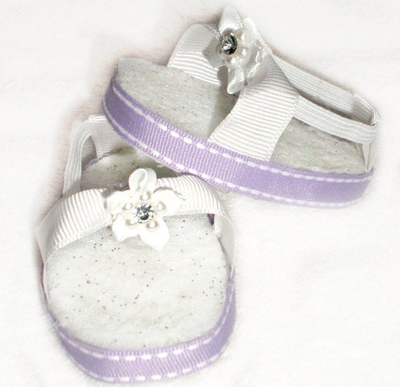 Lavender sandals for 18 inch American Girl doll