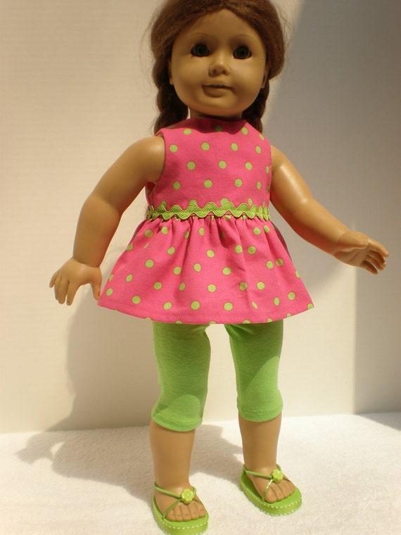 American Girl Doll Americana Capri Set - 18 inch doll