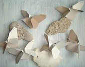 Origami Butterflies in Shades of Coffee