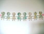 Paper Doll Chain -  Around the World