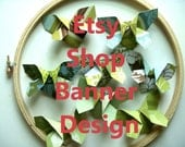 Reserved for Barb -Etsy Shop Winter Banner and Icon Design